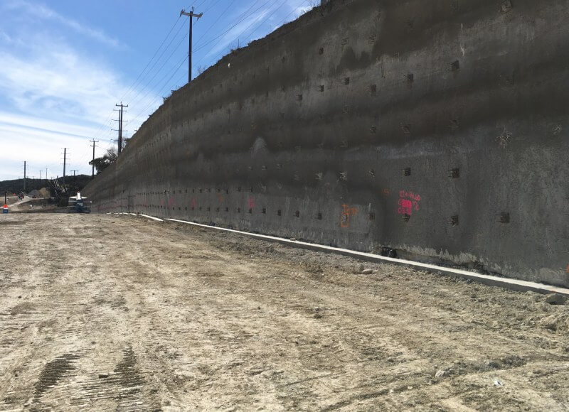 Soil nail permanent wall